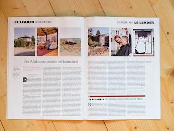 Publication de le Hors Série MANDELA du magazine Courrier International