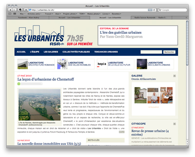 Un portfolio en ligne sur le site des urbanités, Radio Suisse Romande