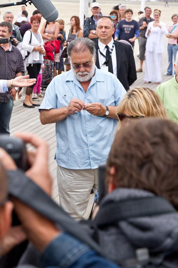 Francis Ford Coppola à Deauville, sur les planches