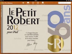 Scroller Robert 2012, sur iPad.
