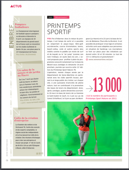 Seine-Maritime magazine, avril 2013