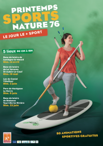 Affiche Printemps Sports Nature 76