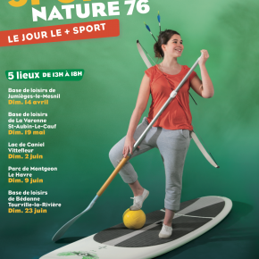 Affiche Printemps Sports Nature 76